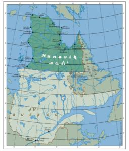 Nunavik map